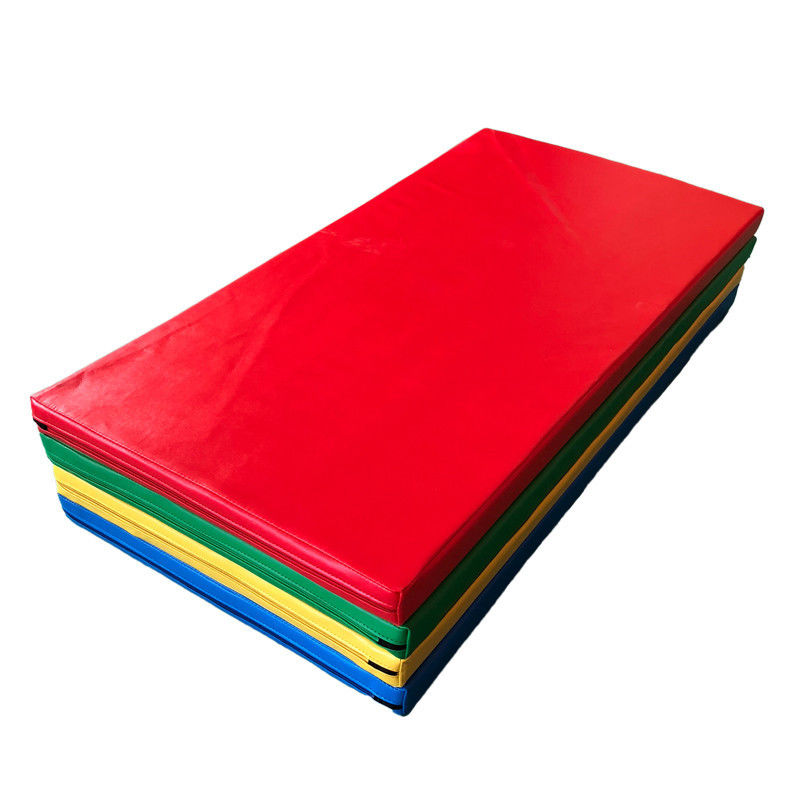 Customized Size Kids Gymnastics Mat Shock Absorbing With Oxford Cloth Material